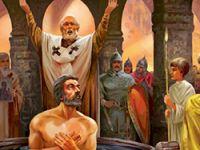 Обряд крещения князя Владимира